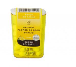 Perlas con flores de bach sabor limón