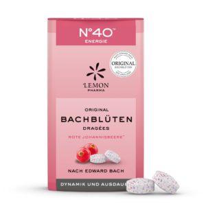 Lemon Pharma Original Bachblüten Nr 40 Energie Dragées Dynamik und Ausdauer hornbeam