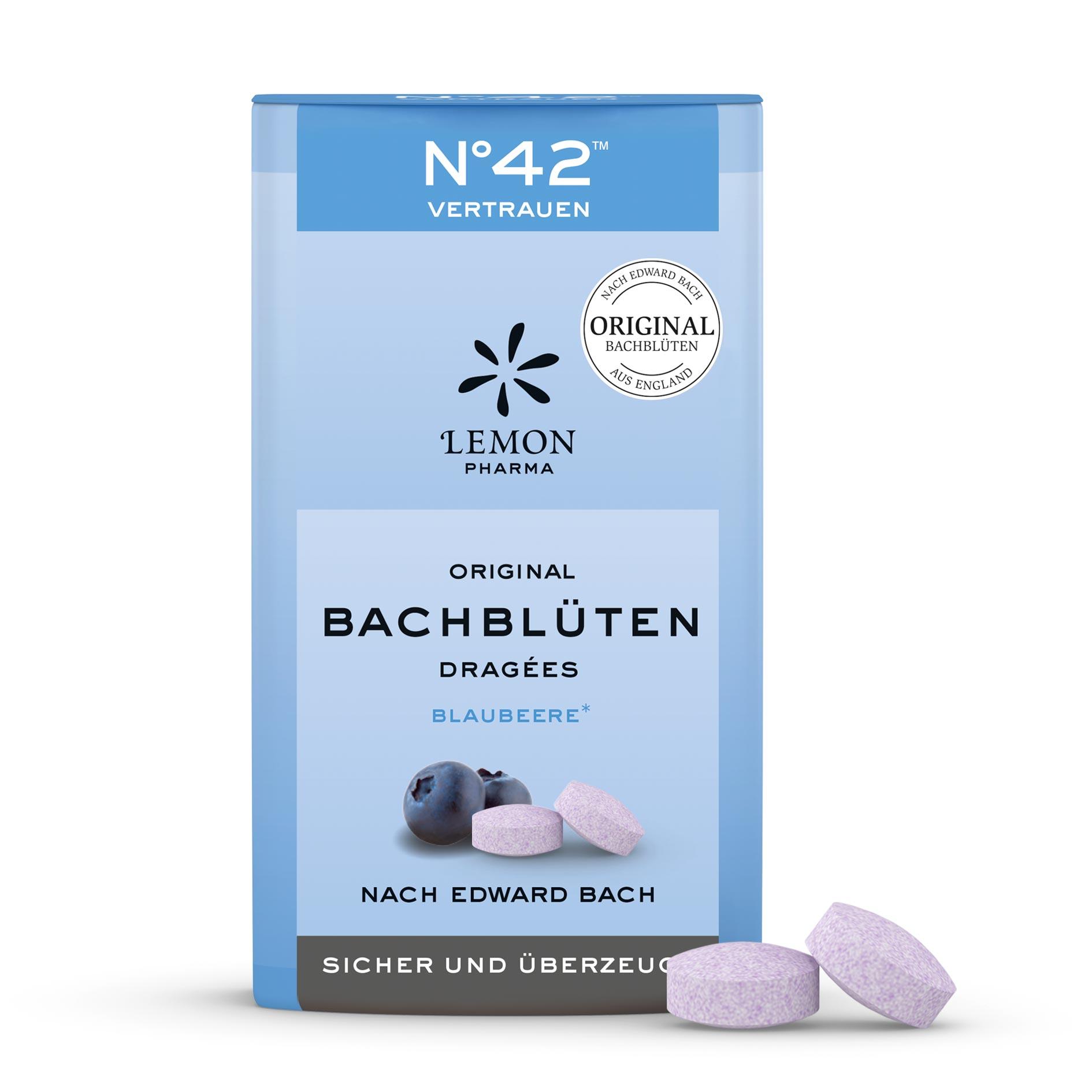Lemon Pharma Original Bachblüten Nr 42 Vertrauen Dragées Sicher und überzeugt blaubeere