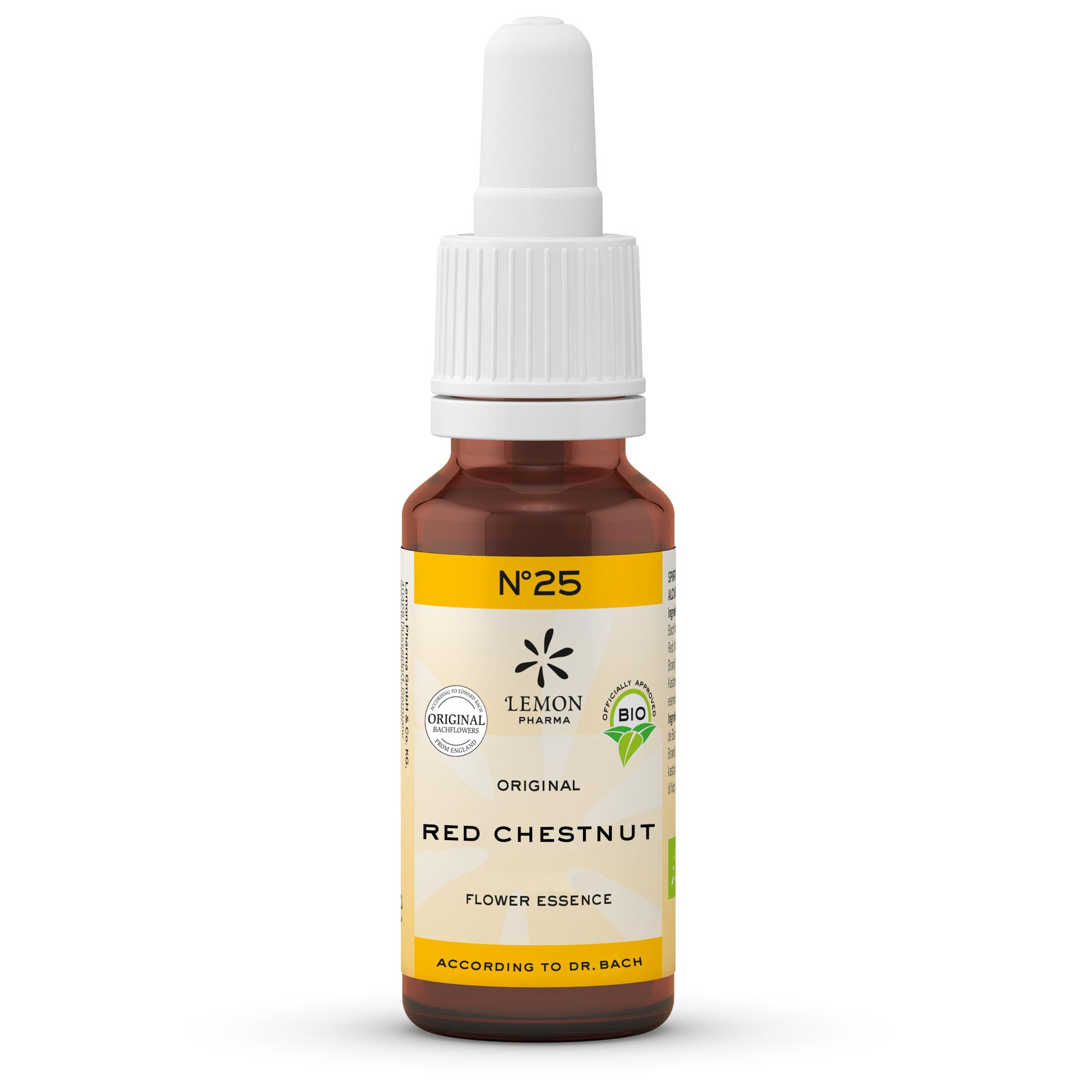 Lemon Pharma Original Bachblüten Tropfen Nr 25 Red Chestnut Rose Kastanie Loslassens