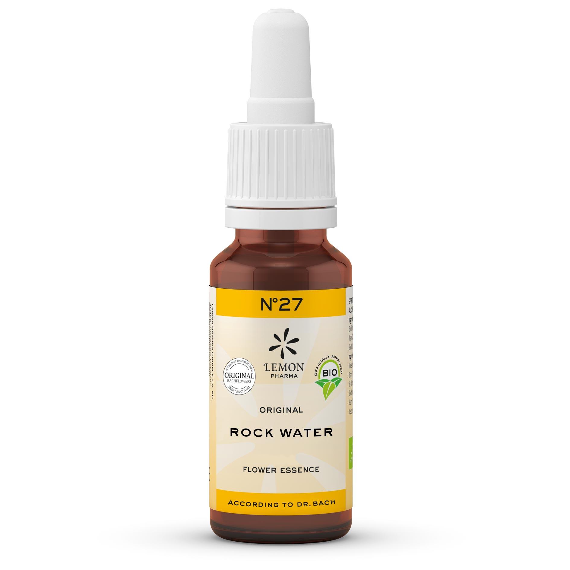 Lemon Pharma Original Bachblüten Tropfen Nr 27 Rock Water Heilkräftiges Quellwasser Leichtigkeit