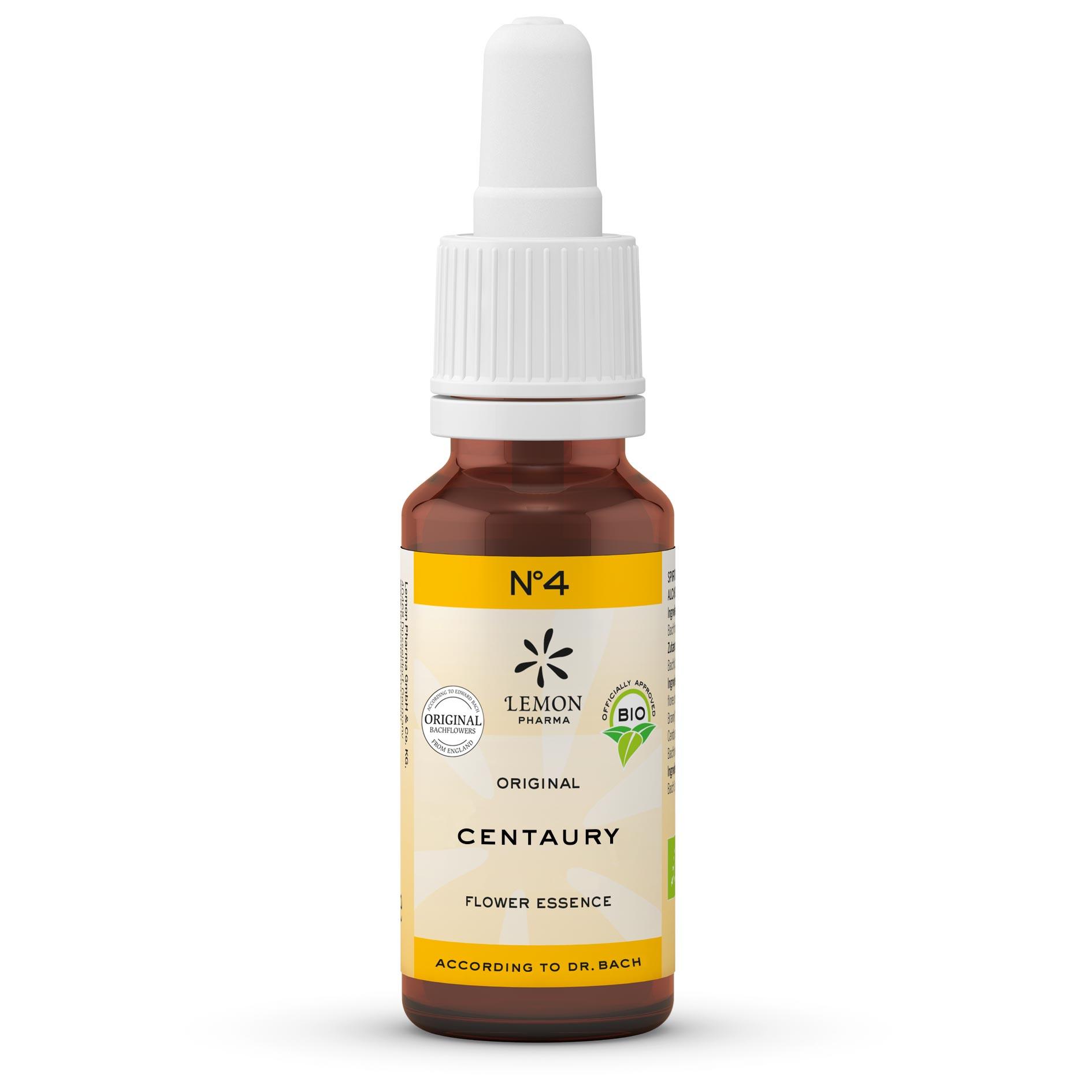 Lemon Pharma Original Bachblüten Tropfen Nr 4 Centaury Tausendgüldenkraut Selbstbehauptungskraft