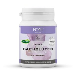 Kaugummi 41 Fokus Lemon Pharma Original Bachblüte Bach flowers Wachsam und Beständig