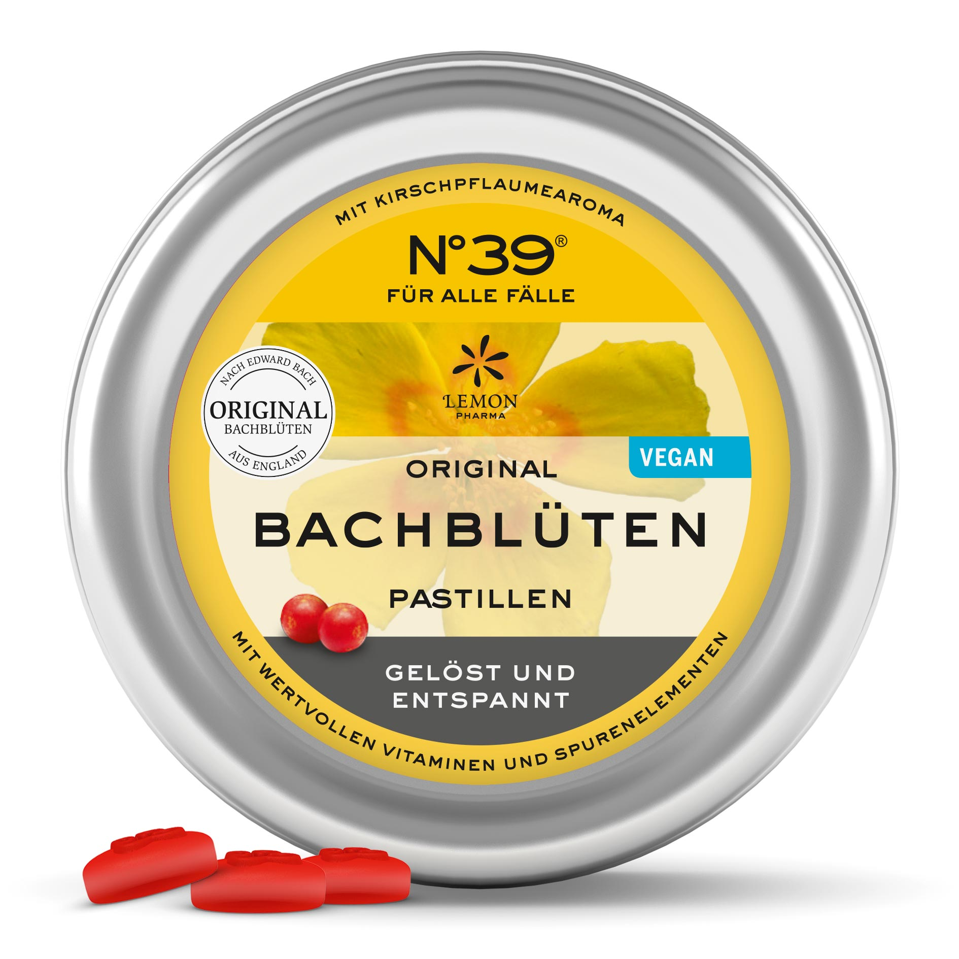 Pastillen Pastilles 39 Für alle Fälle For Emergencies Lemon Pharma Original Bachblüten bach flower rescue
