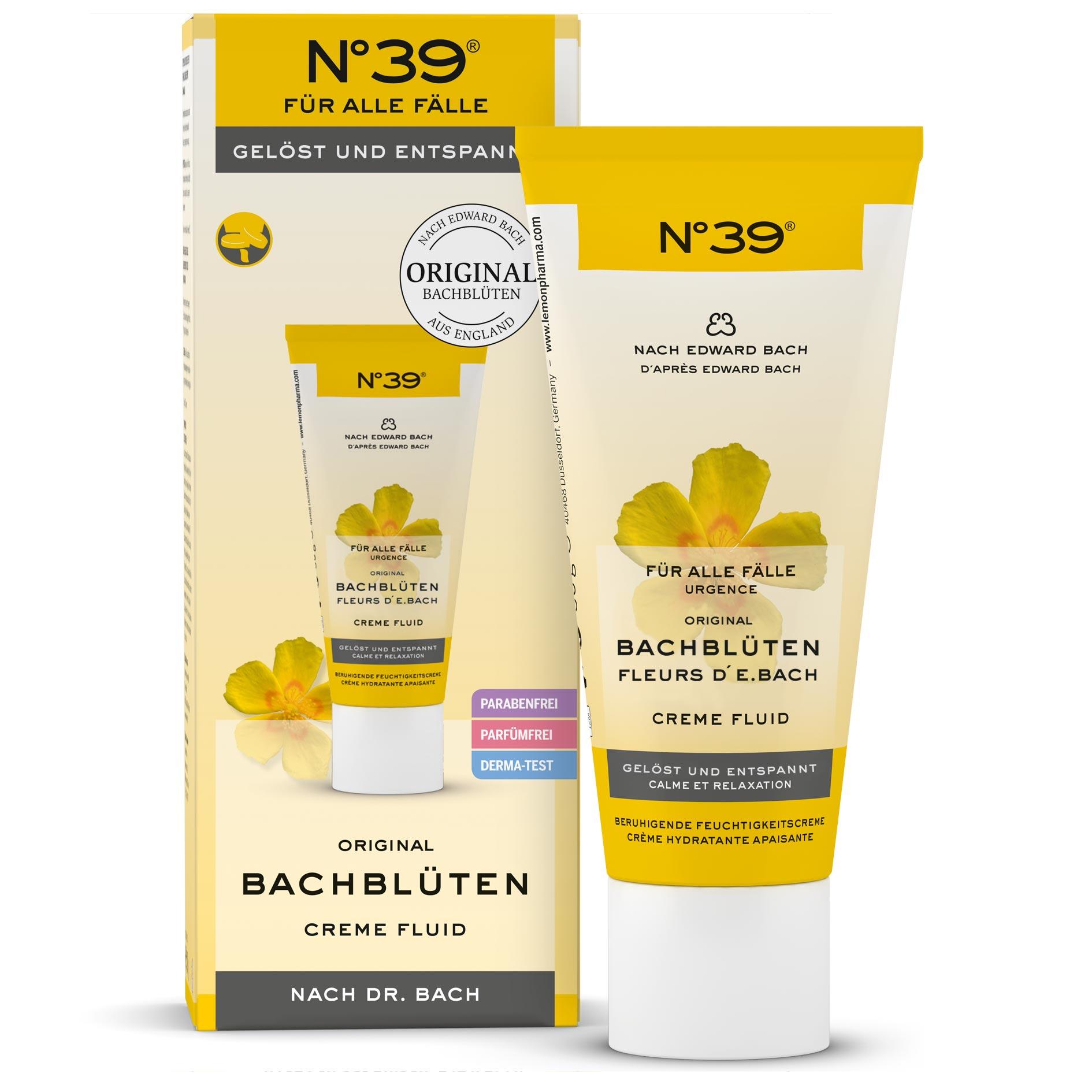 Creme Fluid 39 Für alle Fälle Lemon Pharma Original Bachblüten bach flower parfümfrei parabenfrei