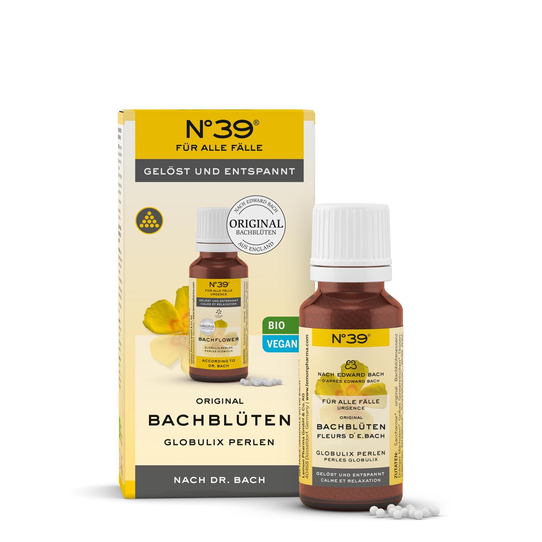 Globulix Perlen 39 Für alle Fälle Lemon Pharma Original Bachblüten gelöst und entspannt bio