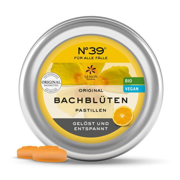 N°39 BIO Pastillen FÜR ALLE FÄLLE Original Bachblüten original Bach flower Dr. Bach Lemon Pharma Rescue Emergency Bachblüten Bonbons